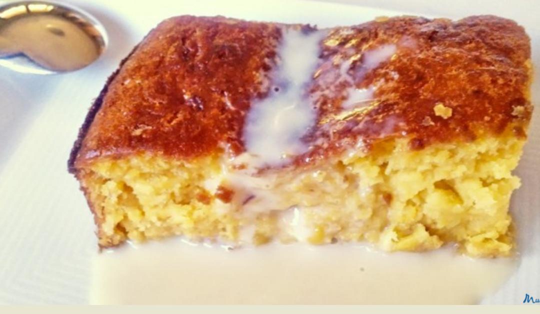 Pastel de maíz dulce sin gluten