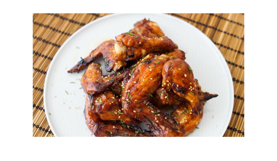 Alitas de pollo al horno con miel y salsa de soja